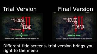 BONUS! House Of The Dead III Trial and Final Comparison