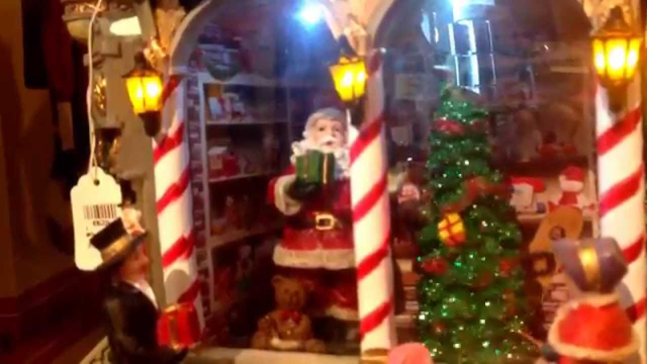 Christmas village models with santa claus on sale in for Is cracker barrel open on christmas day