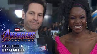 Danai Gurira and Paul Rudd at the Premiere