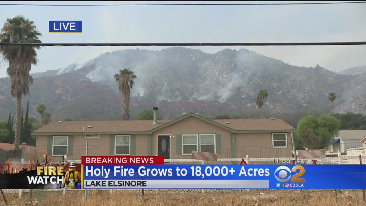 Holy Fire Nearly Doubles In Size Overnight