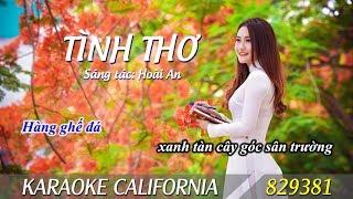 TÌNH THƠ 🎤 Karaoke California 829381 (HD)