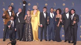 'Game of Thrones' Cast Smiling with Emmys at Backstage Photoshoot