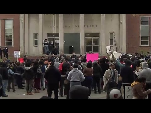 LIVE: Protesters rally outside police office in Baltimore over Freddie Gray's death