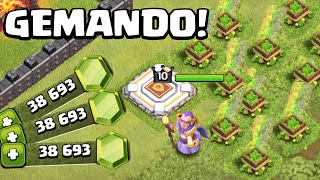 GEMANDO OS NIVEIS DO NOVO HEROI - CLASH OF CLANS