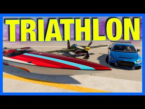 The Crew 2 Online : TRIATHLON!! (Car Vs Boat Vs Plane)