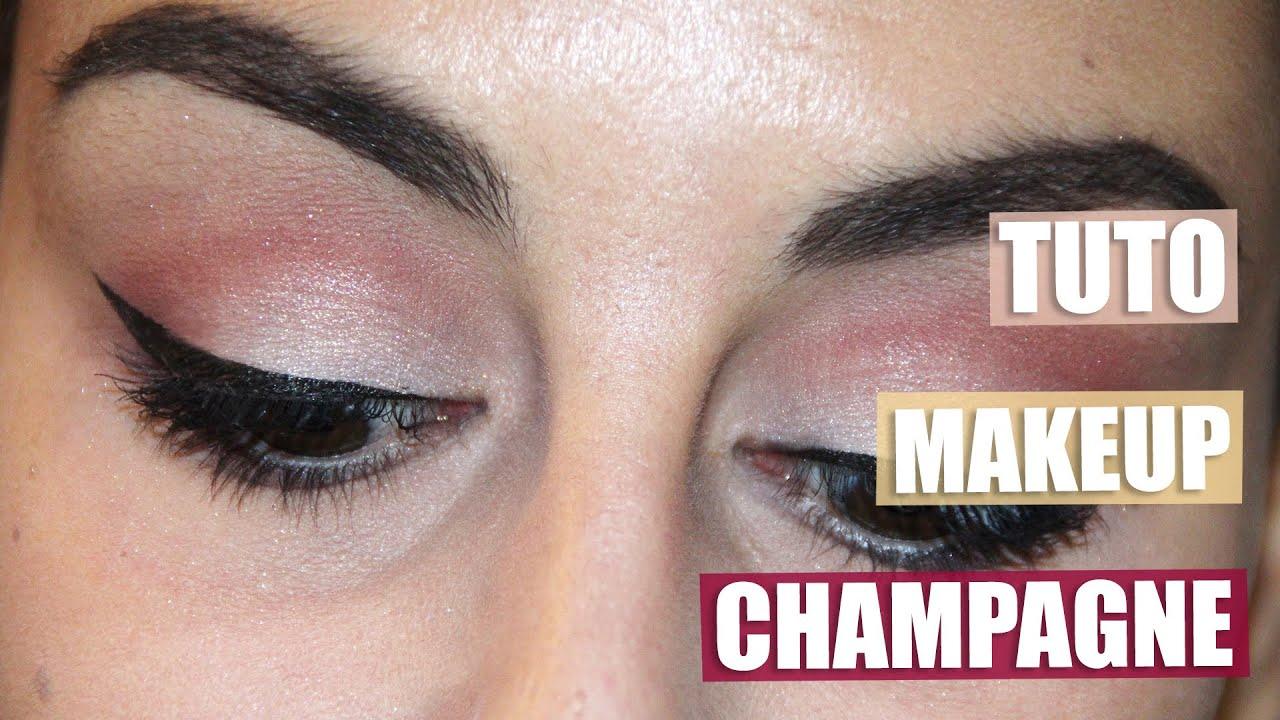 Célèbre Tuto | Maquillage champagne et bordeaux - YouTube ST06