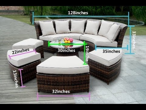 Round Outdoor Sectional Sofa You, Round Outdoor Sectional