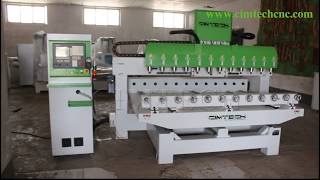 12 heads High Performance 4Axis 3D CNC Router for Classic Europe Style Wood Furniture Carving