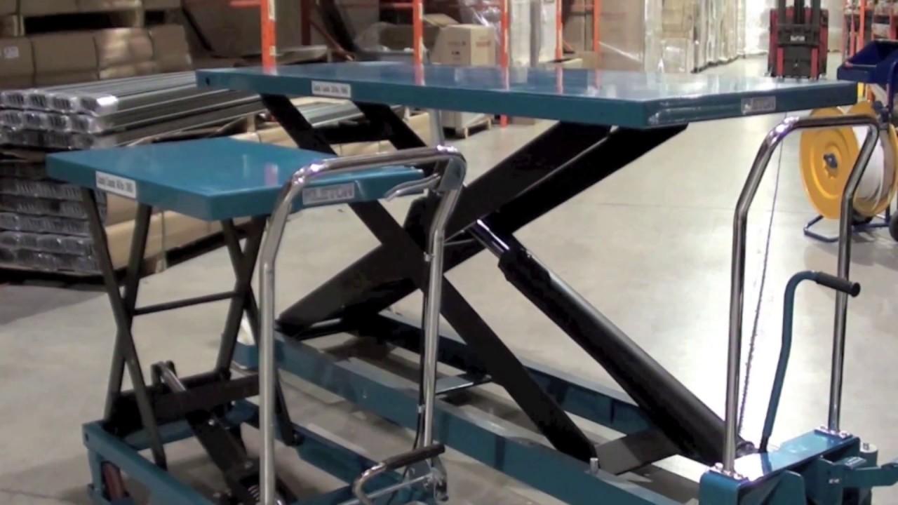 Tables l vatrices hydrauliques ciseaux youtube - Table leve moto hydraulique ...