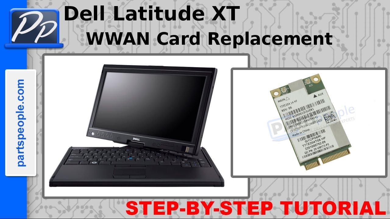 Dell Latitude XT Wireless WWAN Card Video Tutorial Teardown