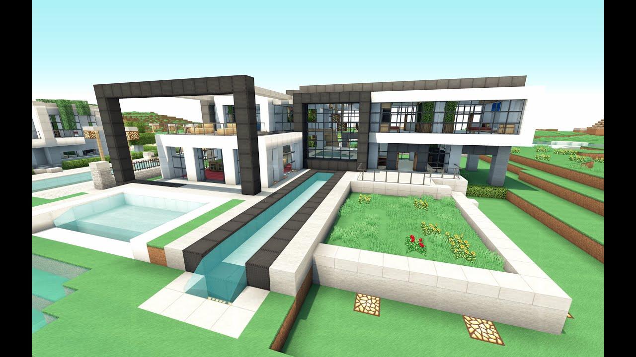 Como hacer una linda casa moderna en minecraft youtube for Casas modernas minecraft 0 10 0