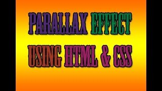parallax effect with pure html and css by md web development.