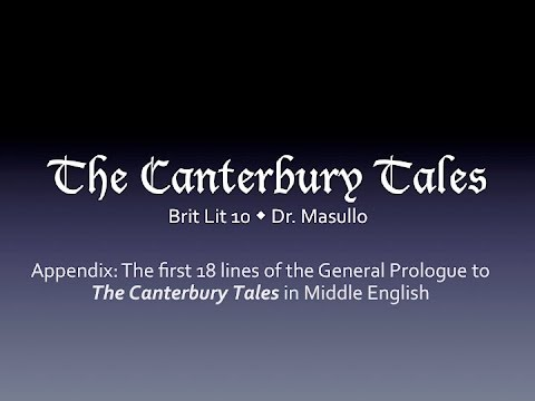 first 18 lines of canterbury tales