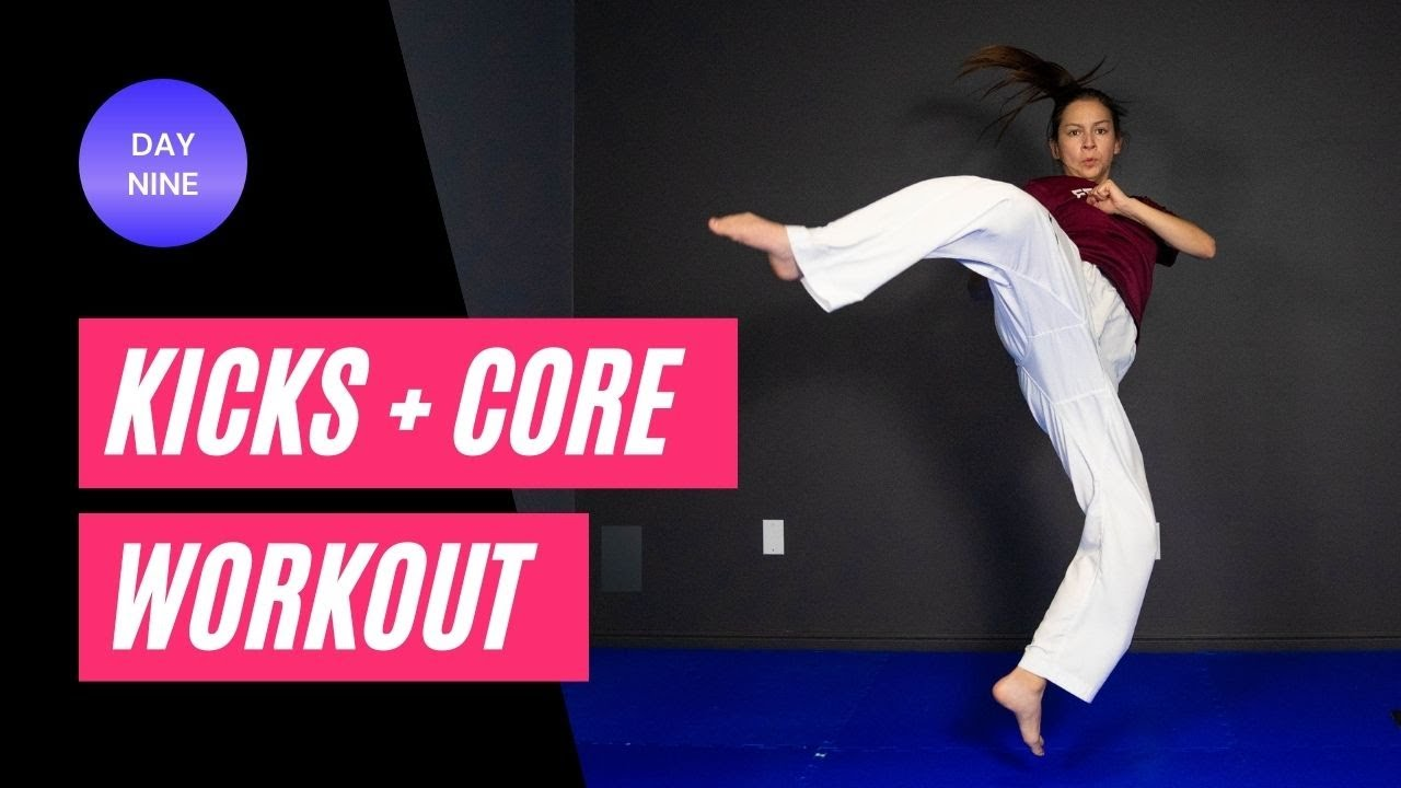 Kicks + Core Intro   Workout Challenge Day 9