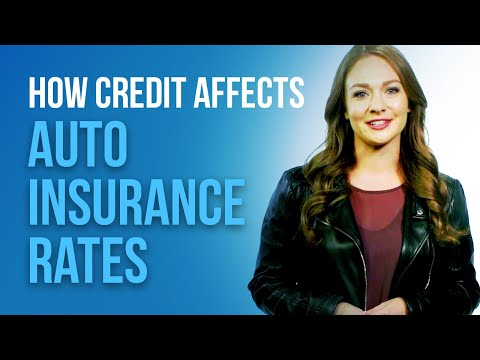 How does credit affect your auto insurance rate?