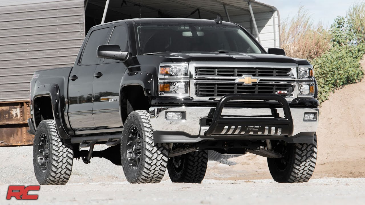 2014 2015 Chevrolet 1500 Pickup Fender Flares With Rivets By Rough