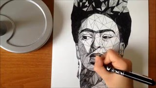 Speed Drawing -  Abstract Frida Kahlo