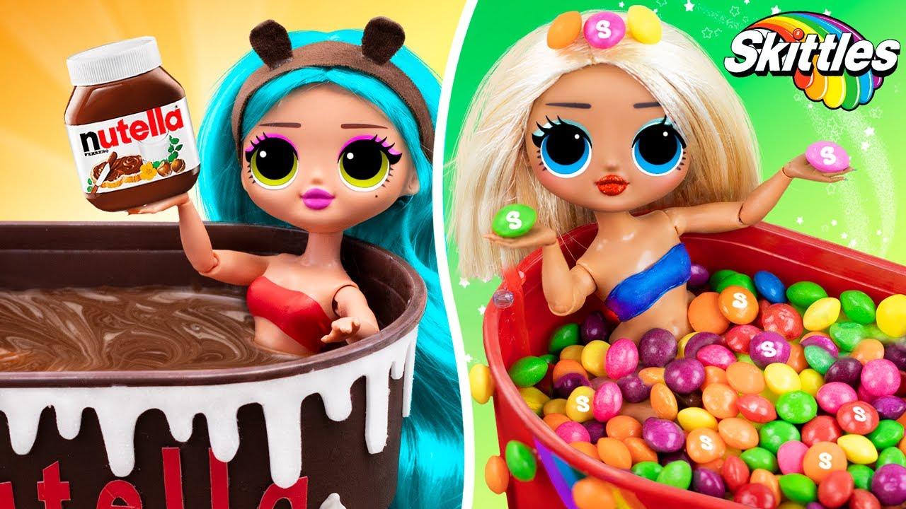 Skittles vs Nutella / 10 DIY LOL Surprise OMG Ideas