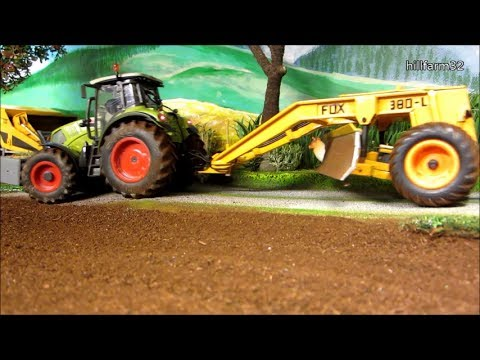 RC TRACTOR LEVELING LAND on the Farm / Rc toys action - YouTube