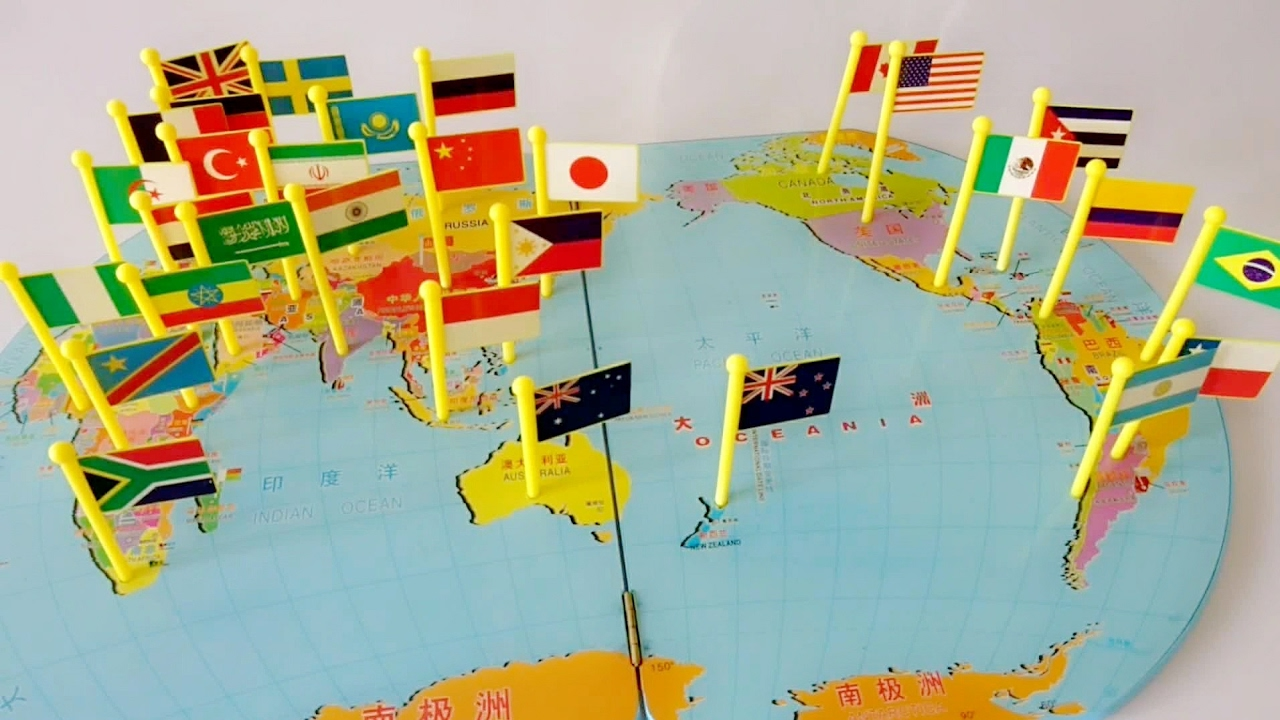 Map Of World Flags.World Flags Pin On Map Matching Puzzle Small Flags Mapboard