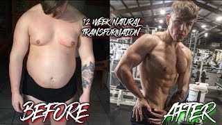 My 12 Week Natural Transformation (FAT LOSS)