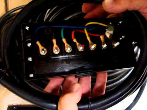 RV Trailer Junction Box 7 Wire with 6 Foot Cable and Plug - YouTube