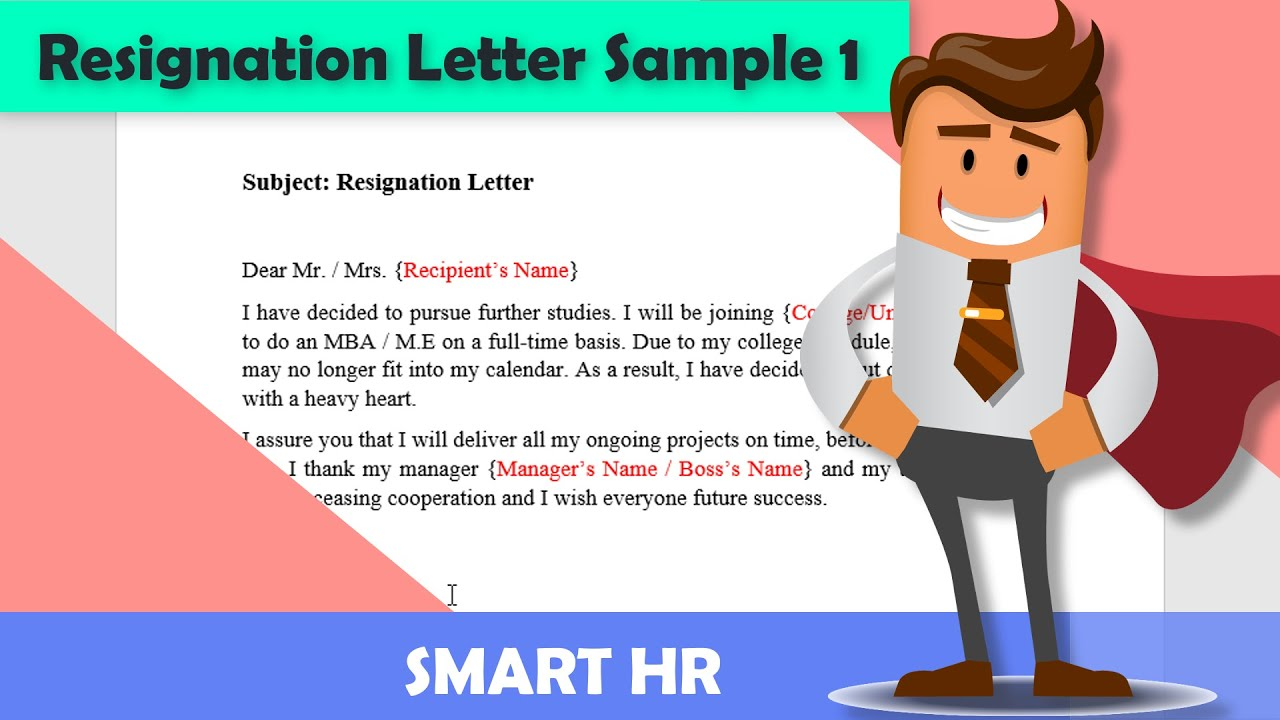 Sample Of A Letter Of Resignation from i.ytimg.com