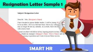 How To Write A Good Resignation Letter (Sample) | #Resignationletter | Smart HR