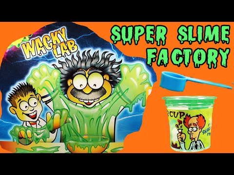 ★Super Slime Factory★ Wacky Lab Edu Science Goo Factory Opening & Review - KTR Videos