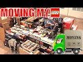 MOVING MY ENTIRE LEGO COLLECTION! | LEGO VLOG