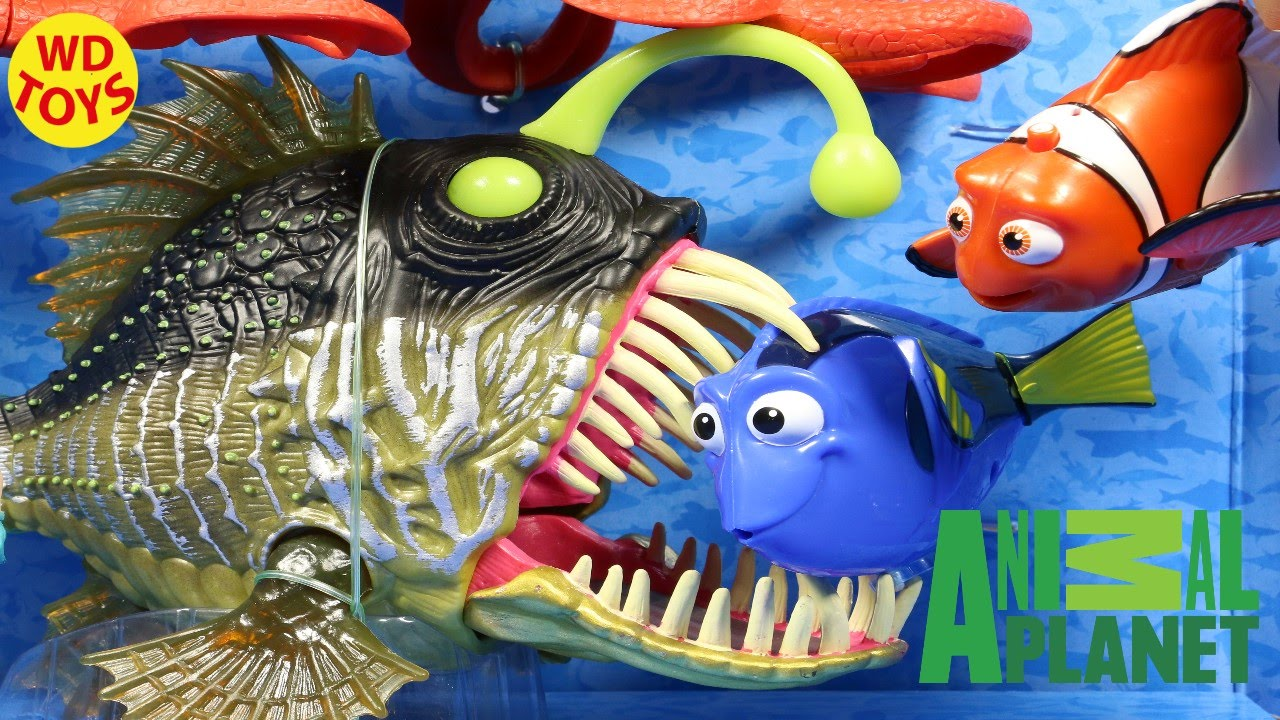 New animal planet angler fish and octopus playset w for What sound does a fish make