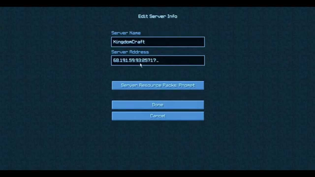 minecraft external server port how to connect