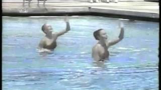 Olympics 1984 Los Angeles Synchronized Swimming HOL Catrien Eijken & Marijke Engelen imasportsphile