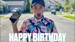 HAPPY BIRTHDAY RYLER BINGHAM | 12-YEAR-OLD GETS FIRST PHONE FOR HIS BIRTHDAY