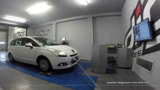 Peugeot 5008 1.6 hdi 112cv Reprogrammation Moteur @ 130cv Digiservices Paris 77 Dyno
