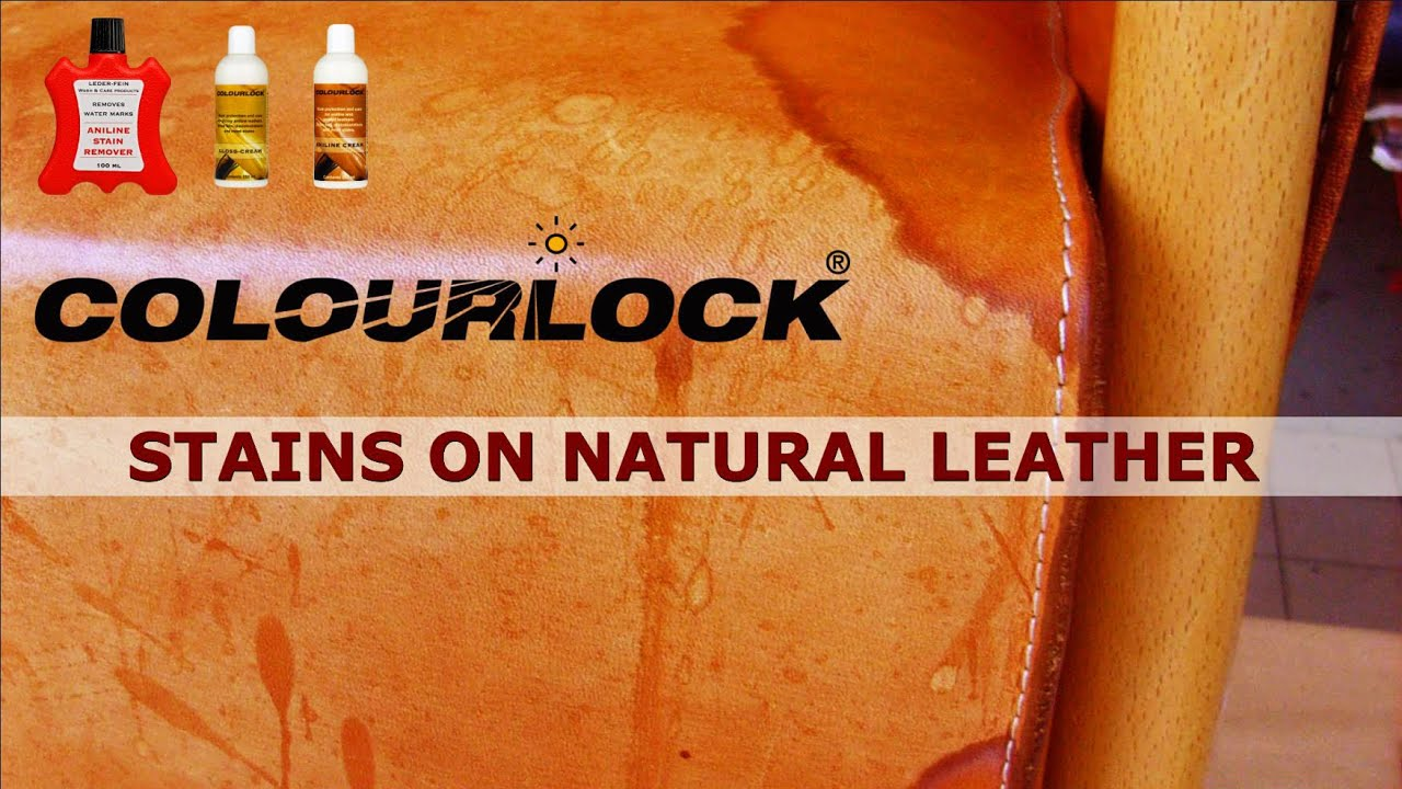 How To Remove Stains On Natural Leather Www Colourlock