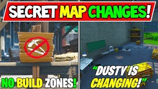 "* NEU* FORTNITE SECRET MAP CHANGES ""Dusty Changing!"" + ""Anti Building Zones!"" - Staffel 10 Storyline"