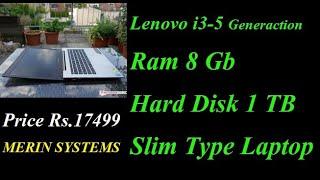 Lenovo U41-70 Intel Core i3-5 Gen | 8 Gb Ram | 256 GB SSD | Very Slim Type Laptop | Laptop Sales