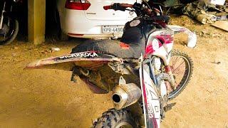 Destruiu minha moto na trilha - Contando meu prejuízos