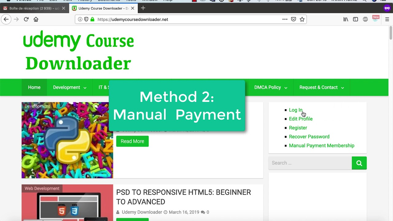 How to register on GD Plan & Download from Udemy Course Downloader - Only  Google Drive Members