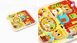Dřevěné puzzle pro najmneších Kočičky v pokoji Chu