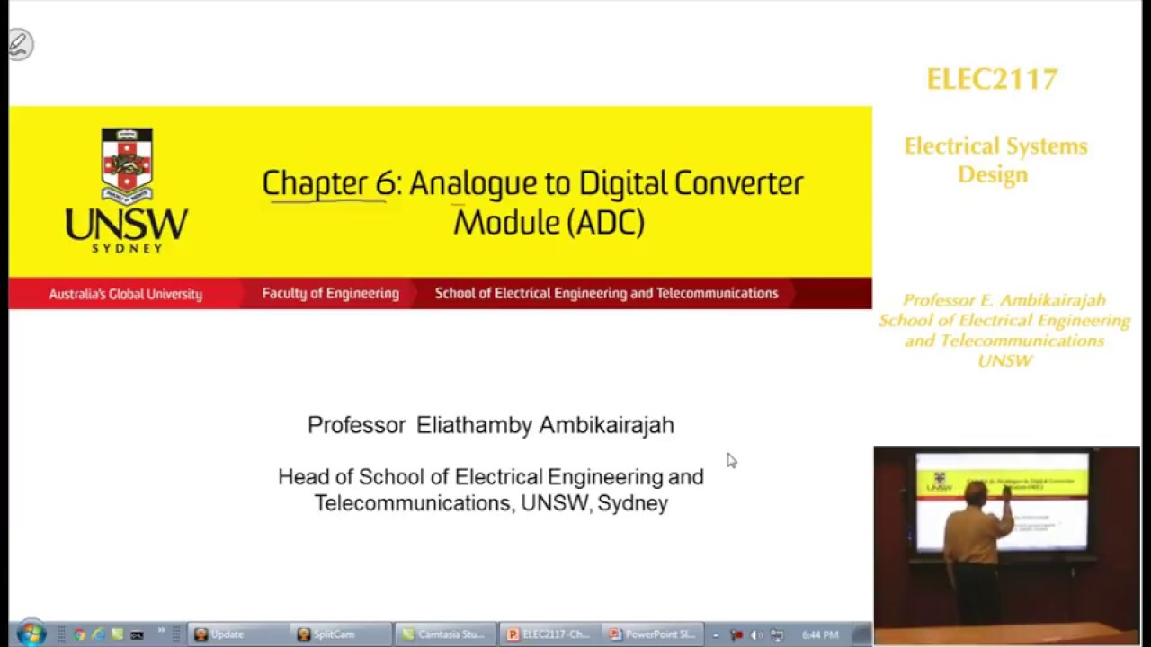 Embedded Systems - Chap 6 - ADC - Prof E. Ambikairajah - UNSW Sydney