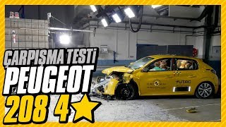 Peugeot 208 çarpışma testinden istediğini alamadı: 4 yıldız