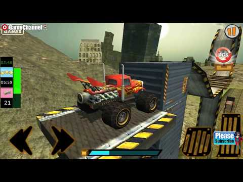 Monster Bus Destruction Grand Finale / 4x4 Truck Stunt Games / Android Gameplay Video #2