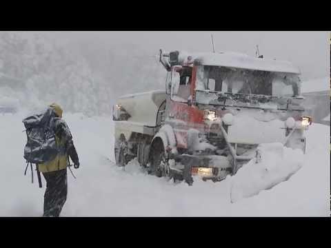 First severe winter snow Arthurs Pass  NZ