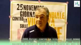 27-11-2016: #fipavpuglia - La Pallavolo 2000 Ostuni contro la violenza sulle donne