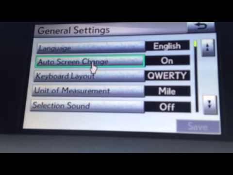 Lexus personalized settings