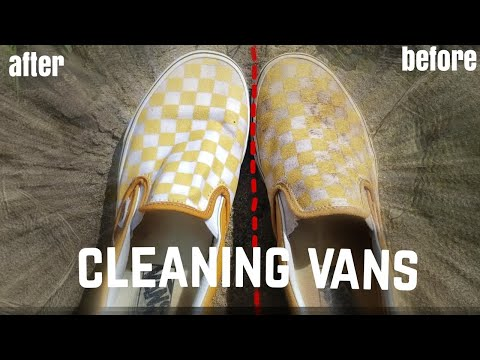 how to clean slip-on vans | annie and jojo