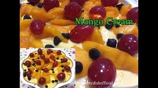 Mango Cream Recipe In 5 Minutes | Mango Mousse Recipe (Only 3 Ingredients) Quick And Easy