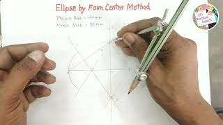 How to draw Ellİpse by Four Centre Method || Ellipse Drawing step by step 2021 || Very Important